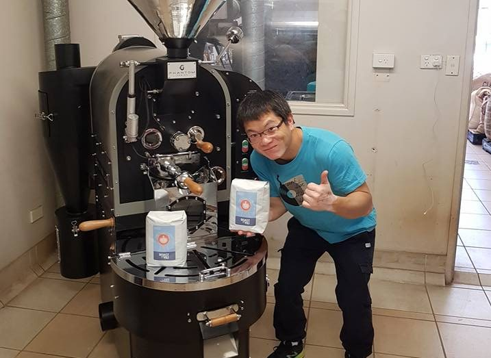 Yili Wang with Phantom Coffee Roaster